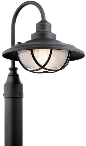 Mill & Mason Broadwick Textured Black One-Light Outdoor Post Lantern