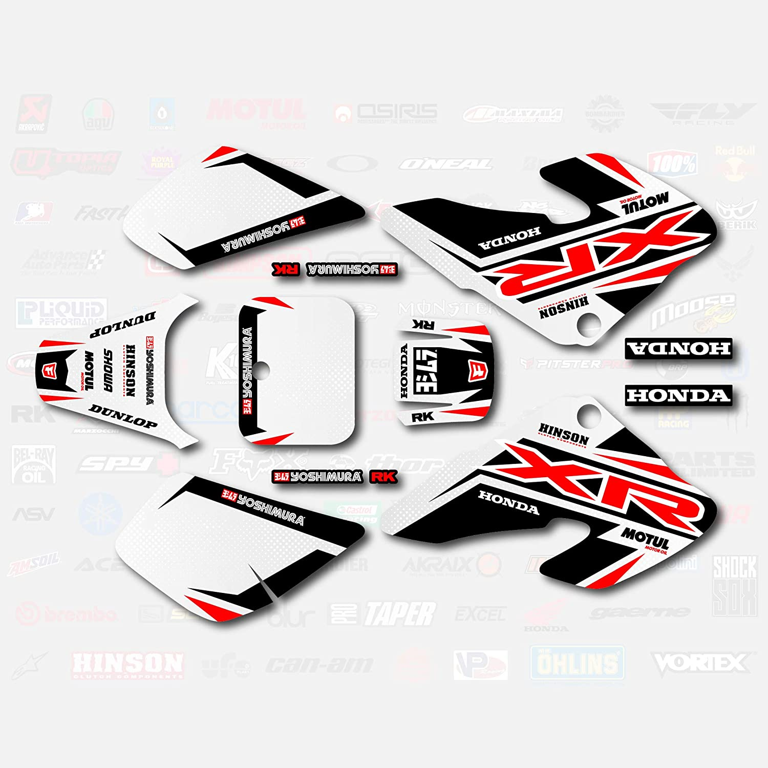 Red Shift Graphics Kit Fits 00-03 Honda Xr50 Shroud Decals Xr 50 pitbike