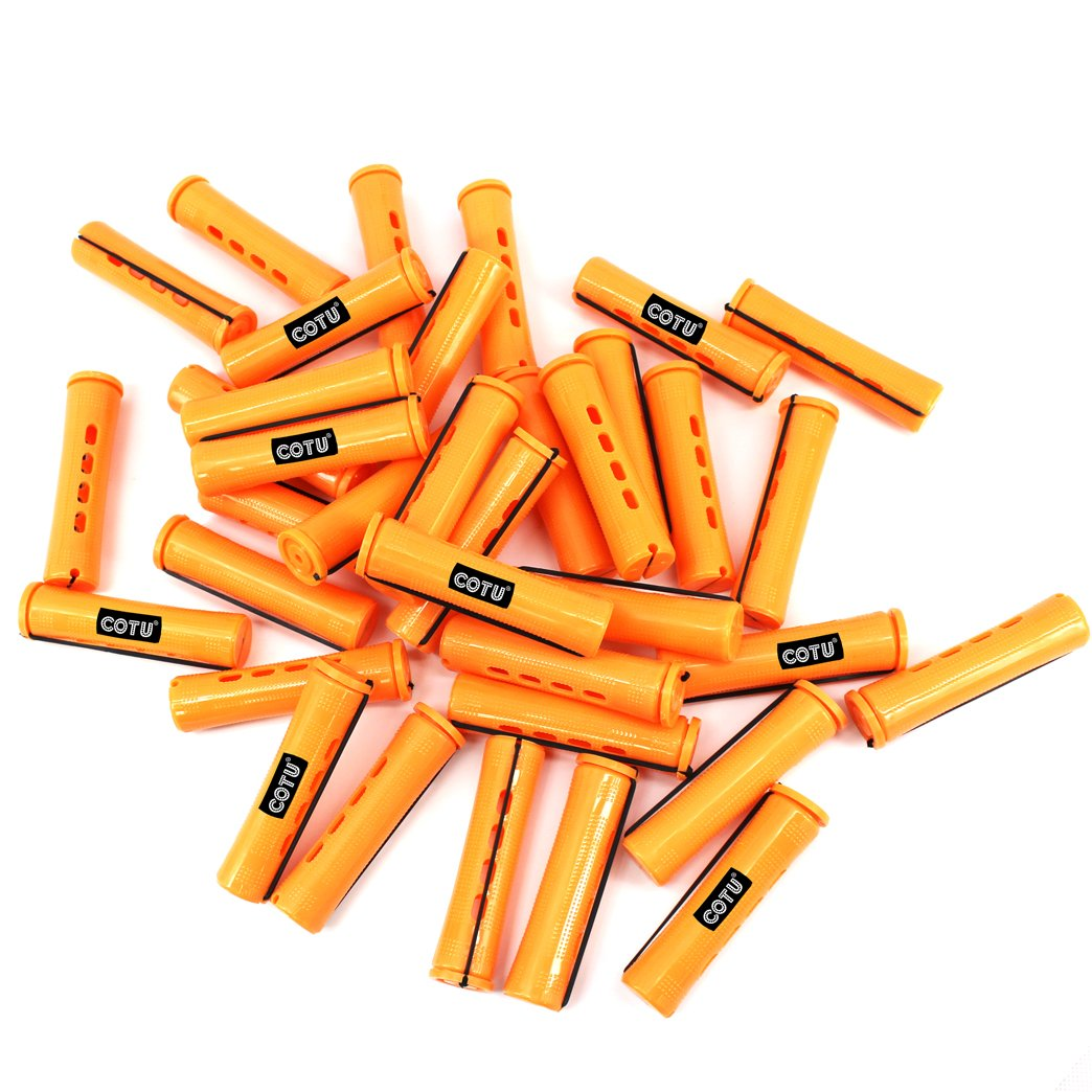 36 pc of COTU (R) Hair Perm Rods Jumbo Size - Tangerine Color