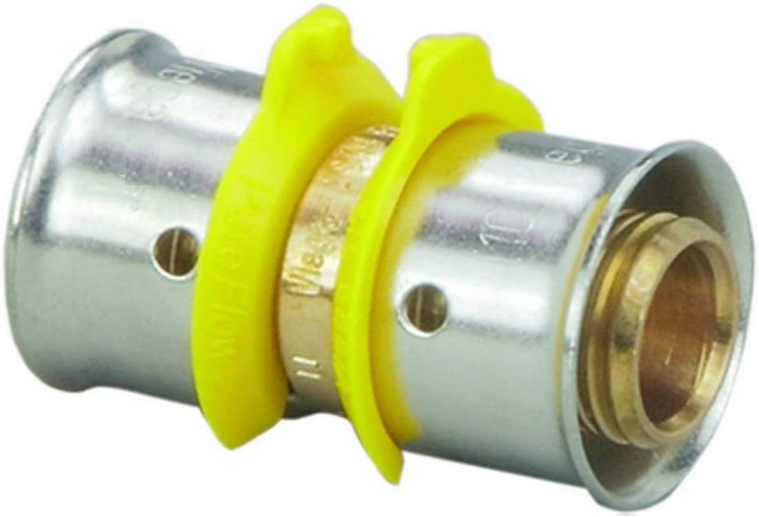 VIEGA 83075 Pureflow Bronze Pex Press Coupling with 1-1/4 x 1-1/2 Press x Press (2-Pack)