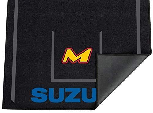 MOTO-D Motorcycle Mat for Suzuki (8'L x 3'W) Track Garage Showroom