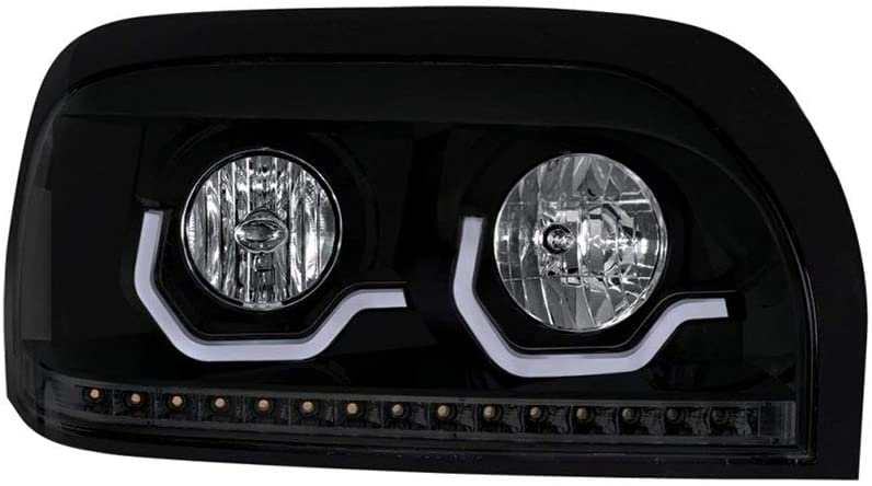 One Blackout Freightliner Century Projection Headlight - Passenger Side