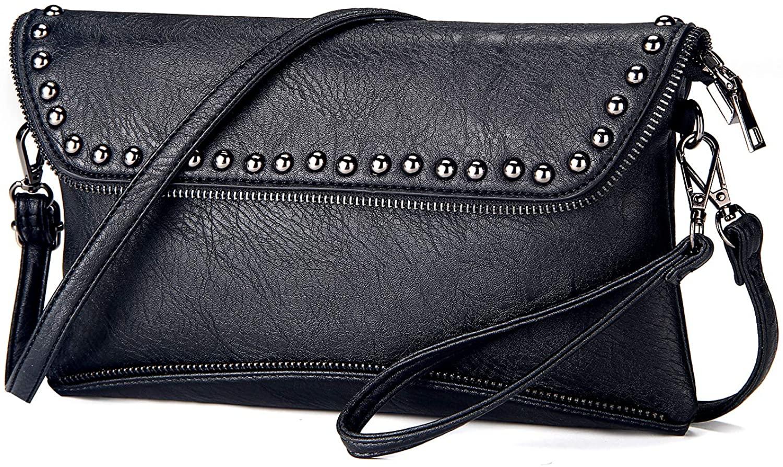 Women Wristlet Small Crossbody Bag Clutch Purse Evening Handbag Signature Wallet