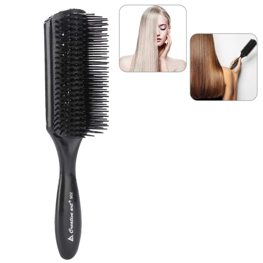 Nine Row Hair Brush, Hairdressing Scalp Massager Comb, Anti-Static, High Temperature Resistant, Classic Styling Tool Round Hair Brushes For Men And Women Blow Drying