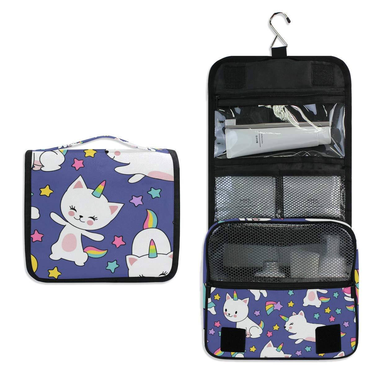 Toiletry Bag Travel Bag Hanging Hook - Watercolor Animal Waterproof Cosmetic Bag Portable Makeup Pouch for Toiletries Bathroom