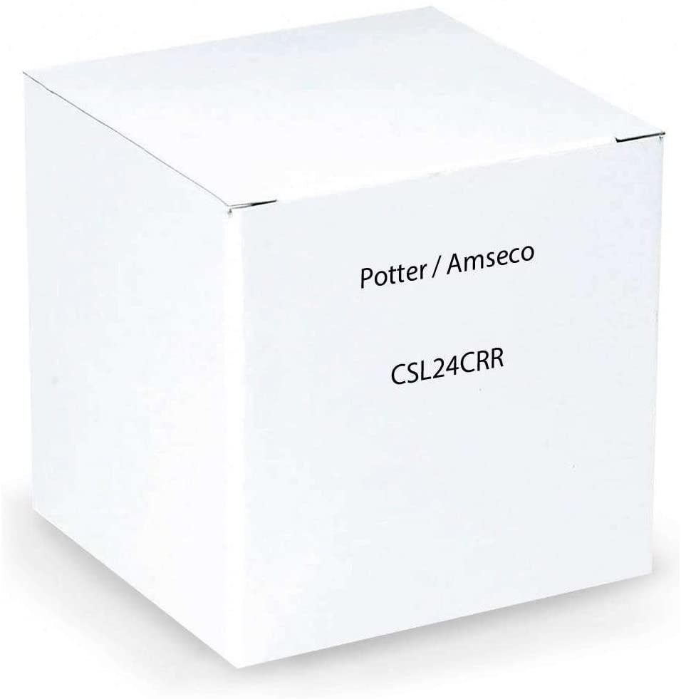 AMSECO POTTER CSL24CRR STROBE ONLY 15 28 39 CANDELLA RED BODY RED LENS