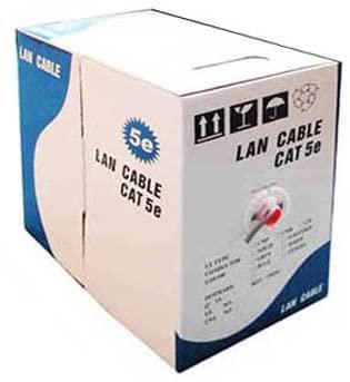 Hsifeng LAN Cable (CAT5E Data Cable), Copper-clad Aluminium (CCA), Copper Clad Steel (CCS), Length: 305M, Diameter: 0.38mm-0.4mm Hsifeng (Color : Color2)