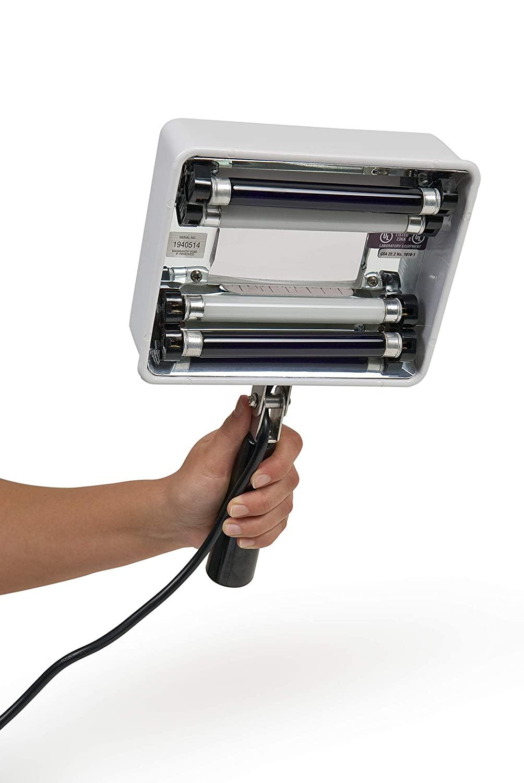 Grafco Q-Series Handheld UV Lamp with 3X Magnification & White Light, Dual 4-Watt Filtered Tubes + White Lights, 650-Watt Intensity at 6