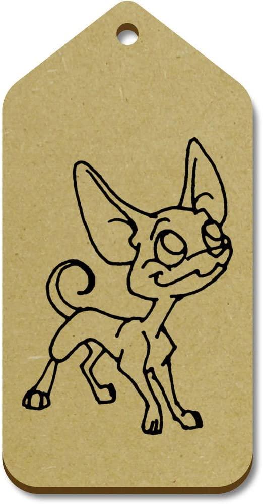 Azeeda 10 x Large 'Chihuahua Dog' Wooden Gift Tags (TG00011510)