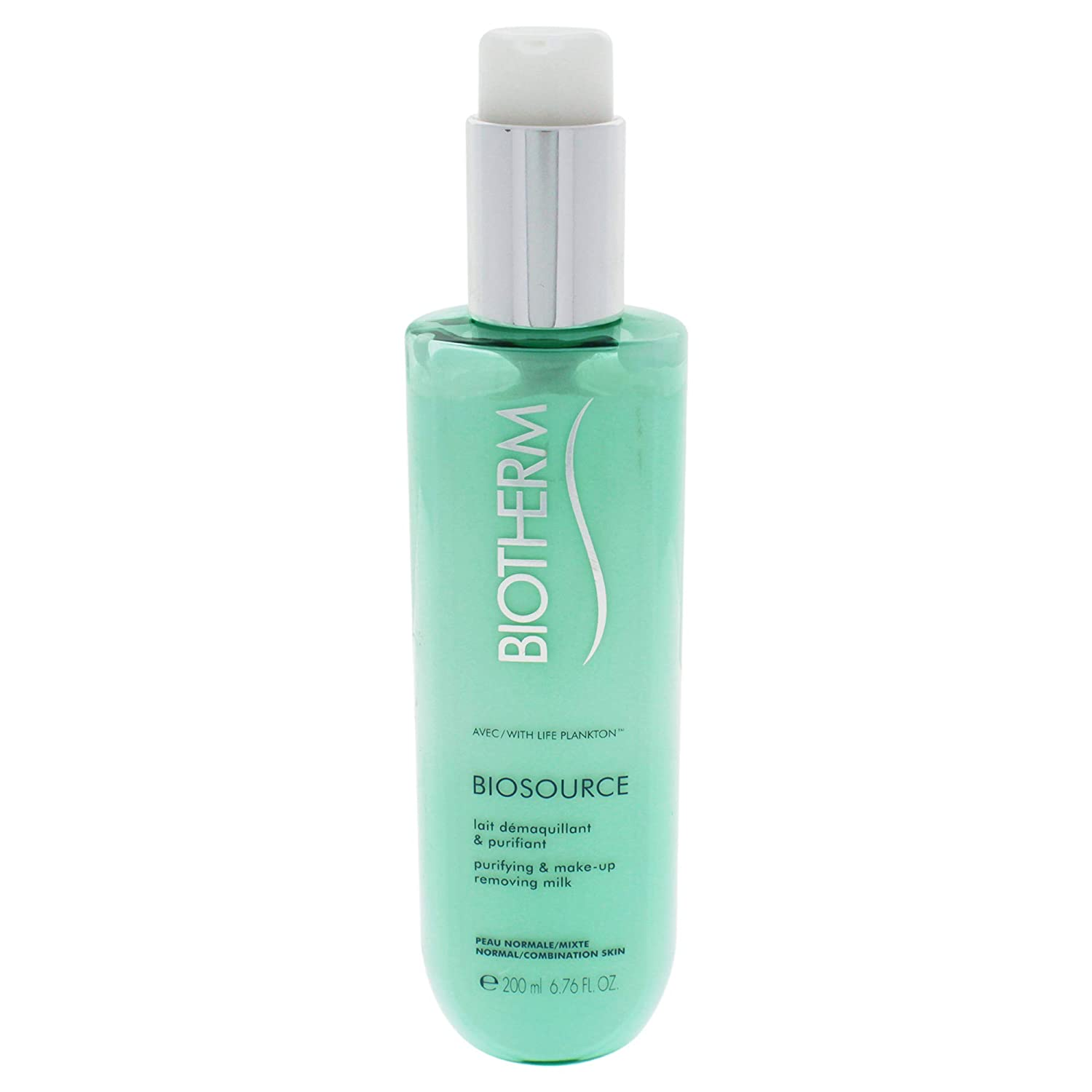 Biotherm Biosource Purifying and Make-Up Removing Milk, for Normal/Combination Skin, 6.76 Ounce