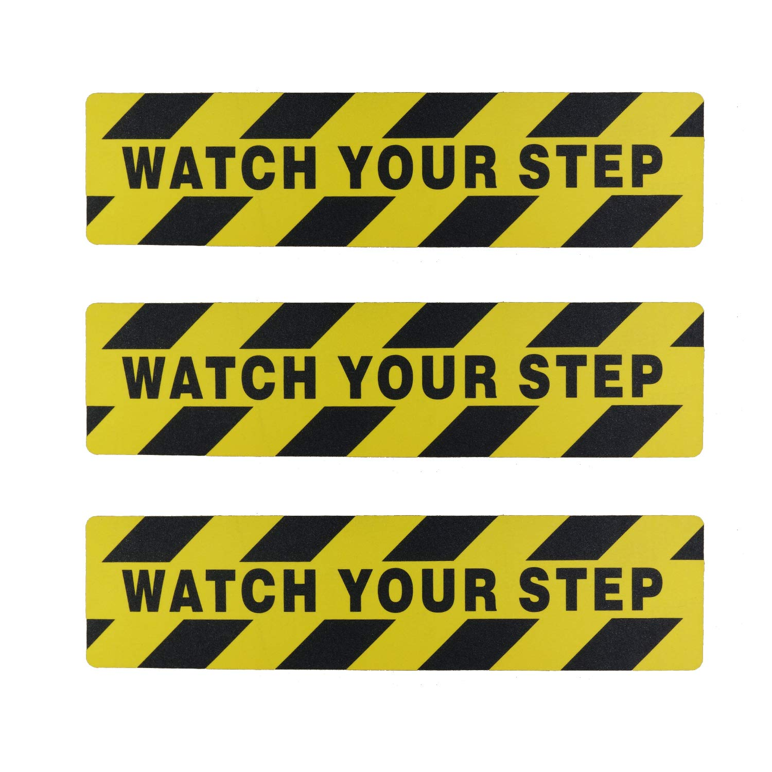 Kasteco 3 Pack Watch Your Step Printed Anti Slip Tape, 6 x 24 Inches