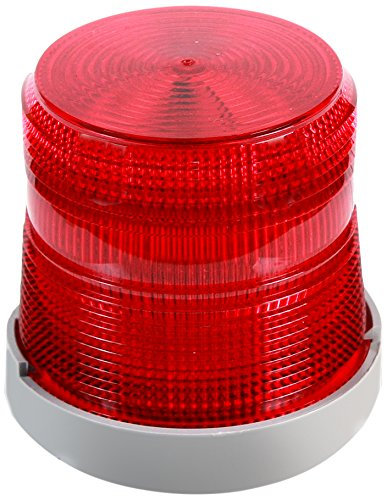 Edwards Signaling 48XBRMR24D XTRA-BRITE LED Multi-Mode Beacon, Polycarbonate/ABS Blend Base, 24V DC, Red
