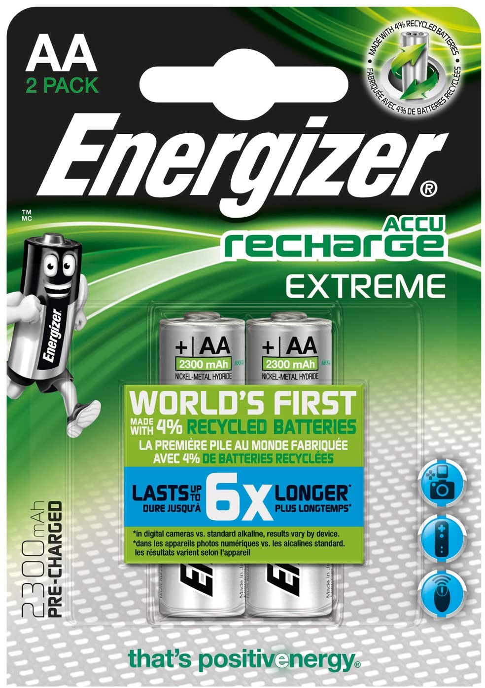Energizer Rechargeable battery NiMH 2 blister