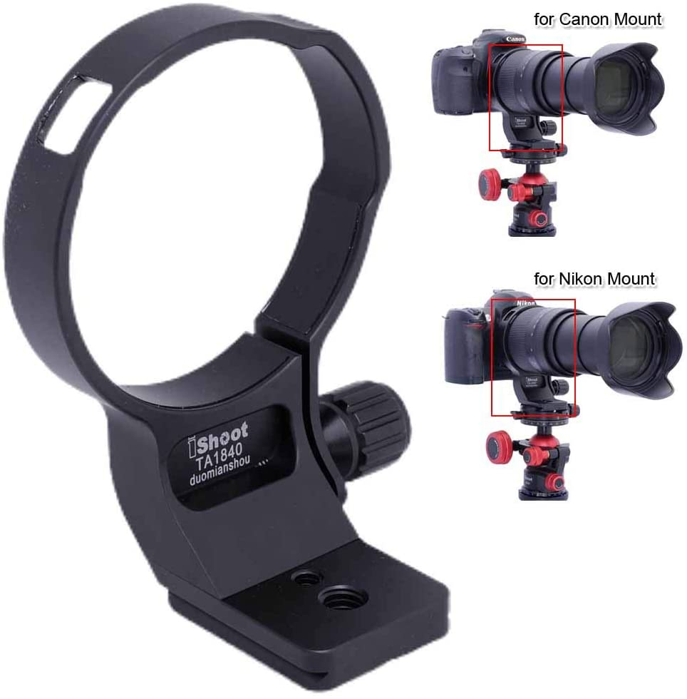 76mm Metal Tripod Mount Ring Lens Collar Compatible with Tamron 18-400mm f/3.5-6.3 Di II VC HLD B028, Lens Support Holder Bracket Bottom is Arca-Swiss Fit Quick Release Plate Feature Dovetail Groove