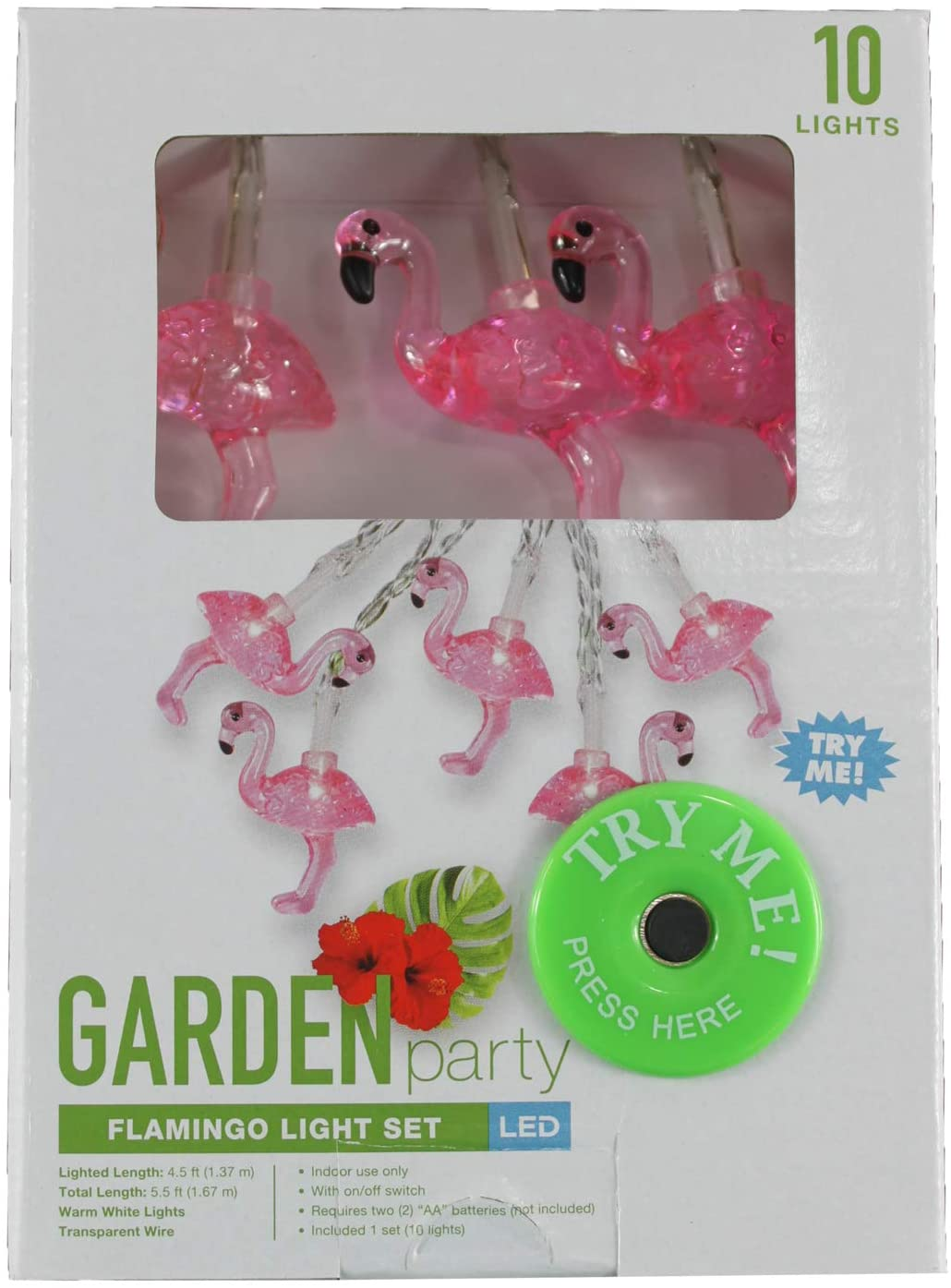 Connie N Randy Garden Party Flamingo Light Set