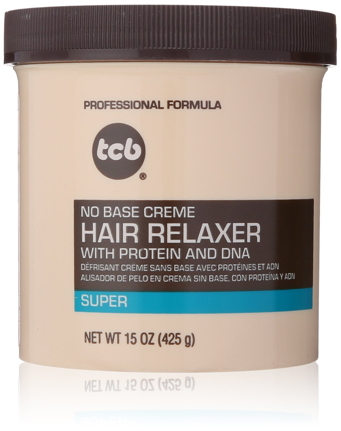 TCB No Base Hair Relaxer Creme, Super, 15 Ounce