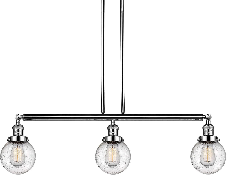 Innovations 213-PN-S-G204-6 3 Adjustable Island Light, Polished Nickel