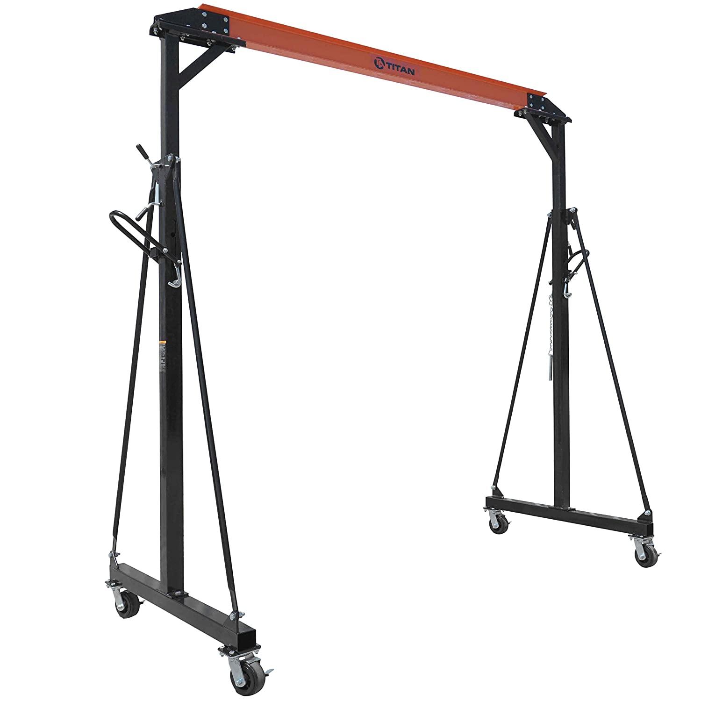 Titan Adjustable Gantry Crane - 2000 lb Capacity
