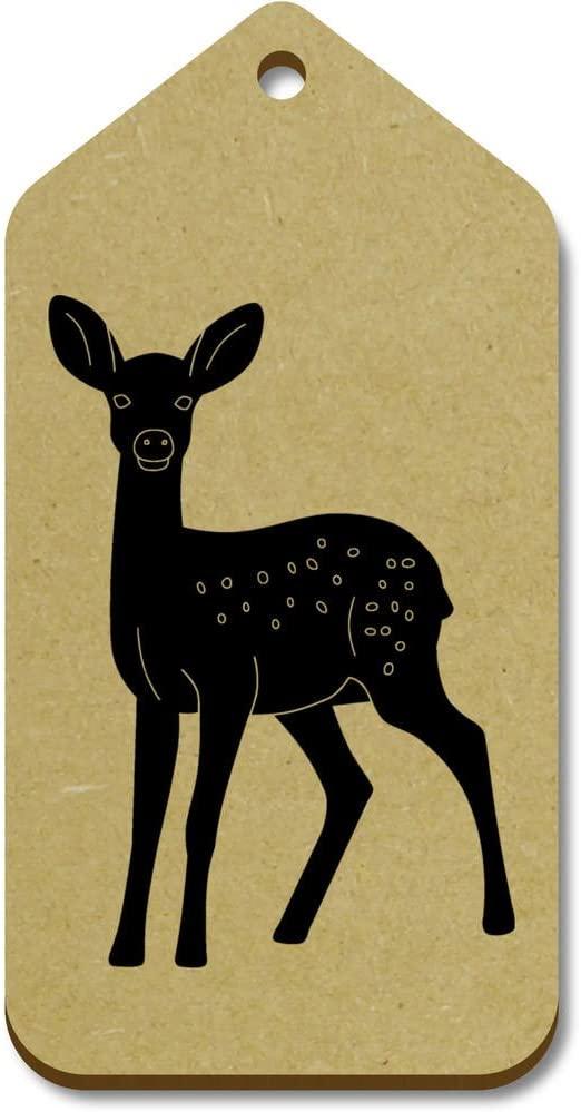 Azeeda 10 x Large 'Deer' Wooden Gift Tags (TG00014821)