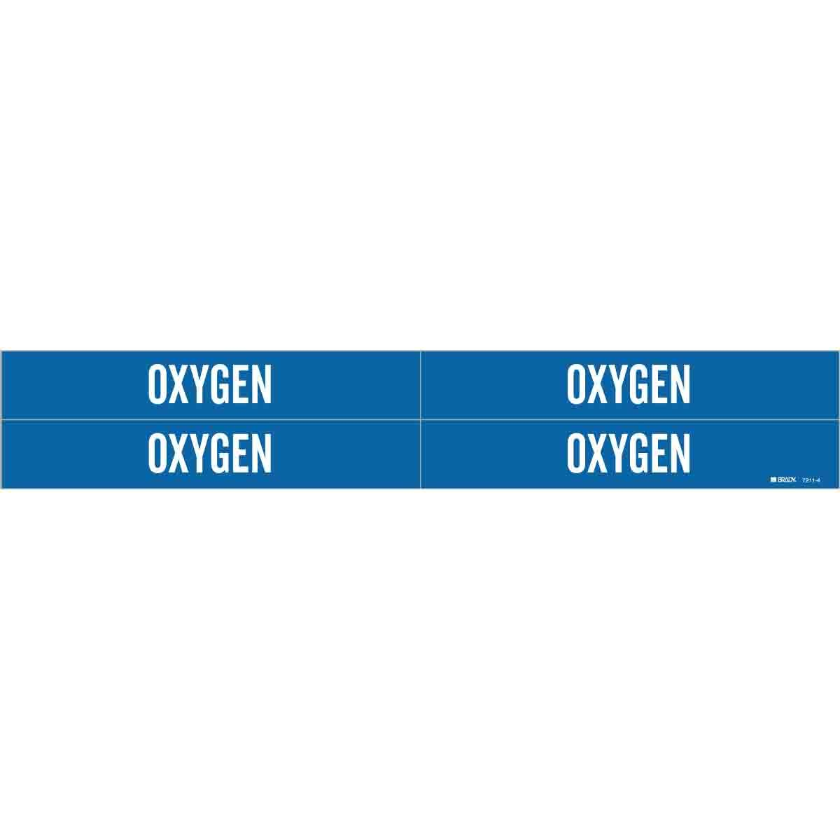 Harris Industries, Inc. PM-112 Oxygen Pipe Marker Tape, 3in and Up