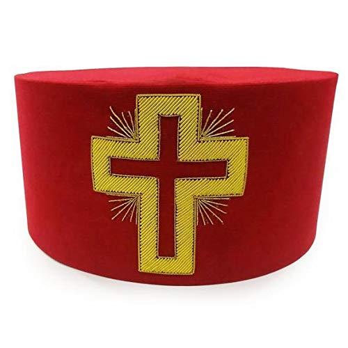 Masonic Knight Templar Past Commander Passion Cross Cap Hat Crown (7-1/2)