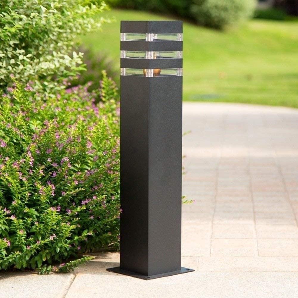 PSED Outdoor Post Lights Decoration Illumination Modern Simple Lawn Light Garden Villa Column Lamp Rust-Proof Patio Garden Lights External Waterproof Pillar Lamp E27 Edison (Size : Height:40cm)