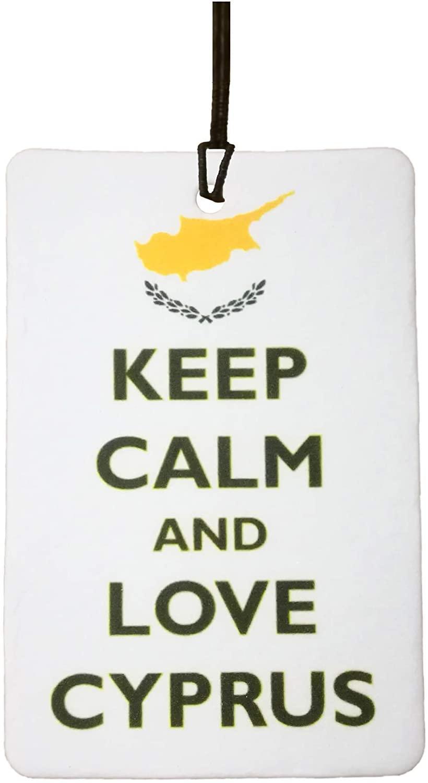 Keep Calm and Love Cyprus Car Air Freshener