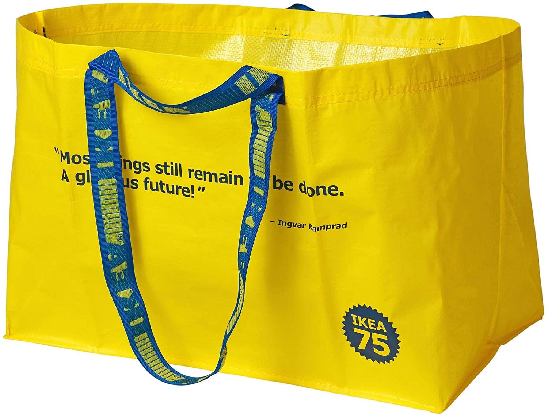 IKEA Varldsbra Shopping Bag Large 50-60s Size 2401 oz 804.276.59