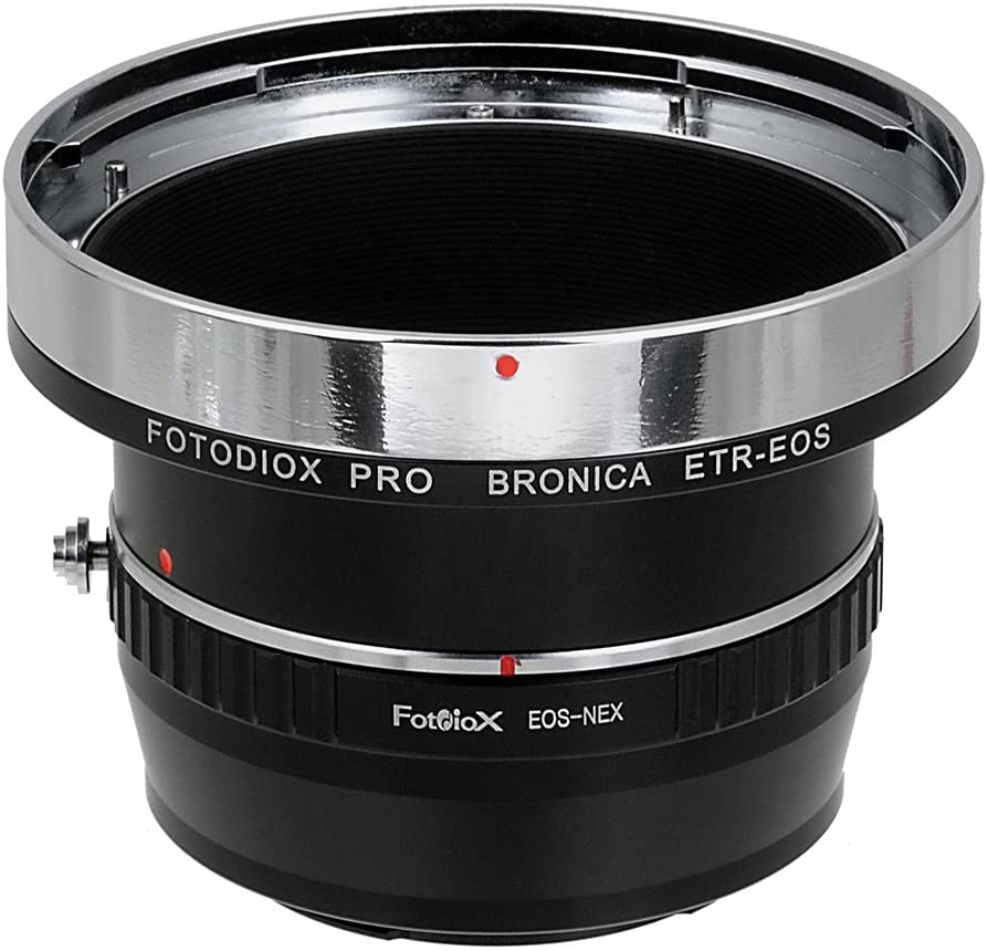 Fotodiox Pro Lens Mount Adapters, Bronica ETR (ETRC, ETRS, ETR-C, ETRSi) Mount Lenses to to Sony E-Mount Mirrorless Camera Adapter