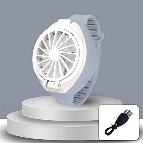 Personal Fan, Mini Handheld Portable Fan, Ultra-Quiet Third Gear Speed Electric Mini Watch Fan, USB Rechargeable Folding Electric Fan Small Fan Pocket Fan for Home, Office, Outdoor Travel (Gray)