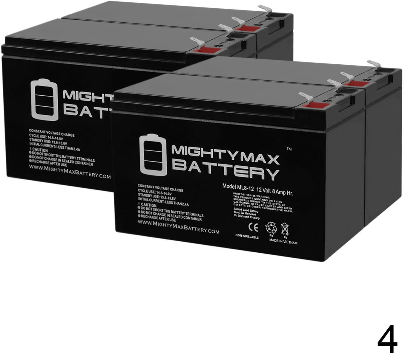 Mighty Max Battery 12V 8AH Replaces Belkin Residential Gateway RG Backup Battery - 4 Pack Brand Product