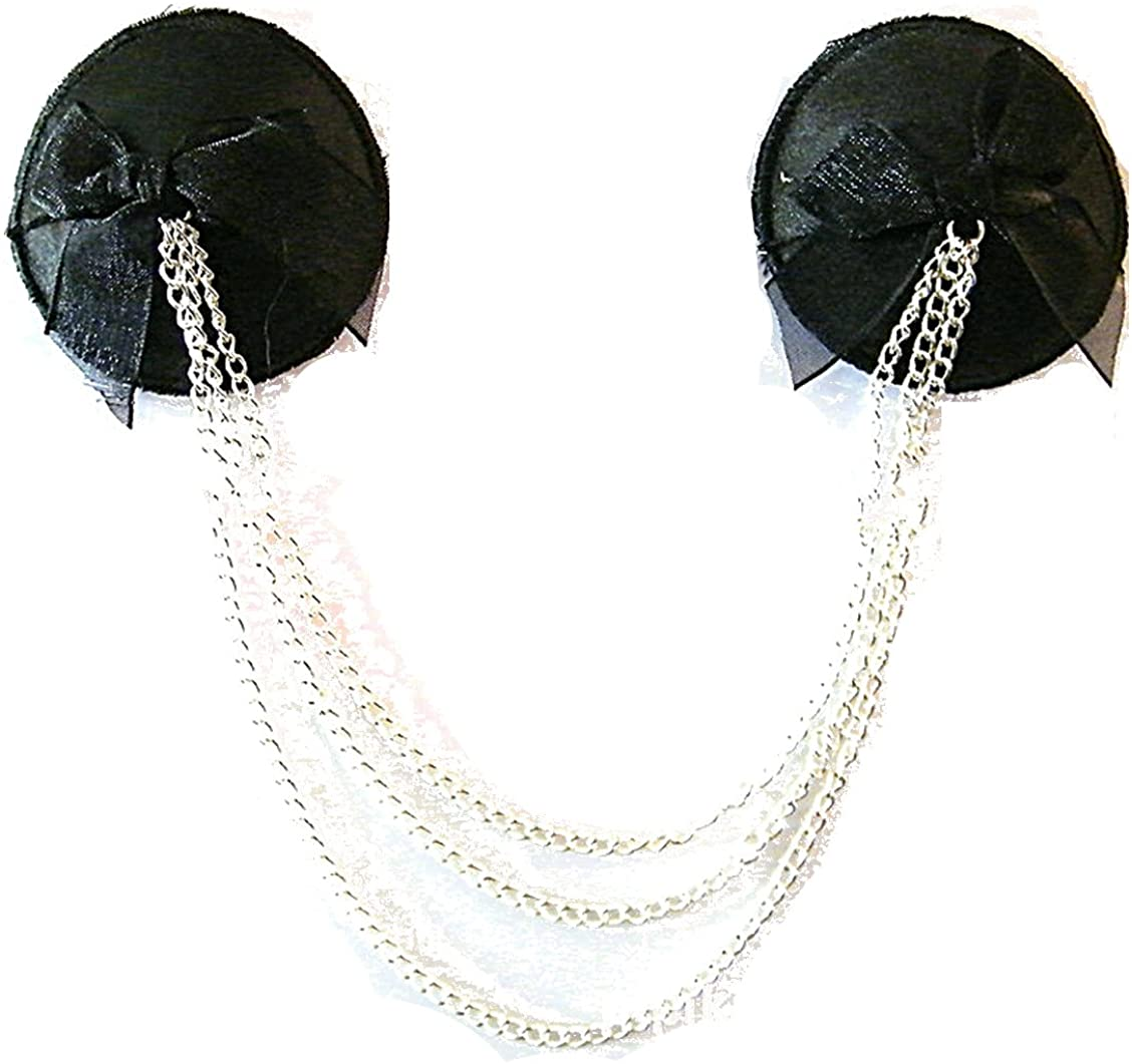 TX-Originality Pasties Black Reusable Nipple Cover Punk Style