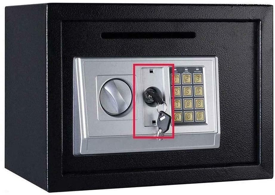 WANGJUNXIU Safe Box, High-Security Electronic Digital Home Safe, Wall Cabinet Installed in The Safe of Office Home Hotel,Black Safe Box