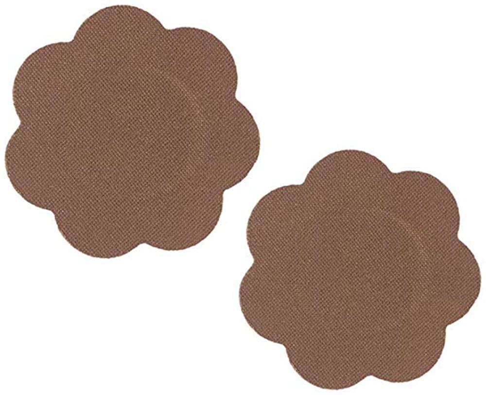 Braza Petal Tops - Reusable Nipple Covers - 1 Pair Cocoa