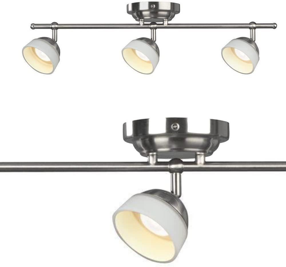 Madison 3-Light Satin Nickel Dimmable Fixed Track Lighting Kit