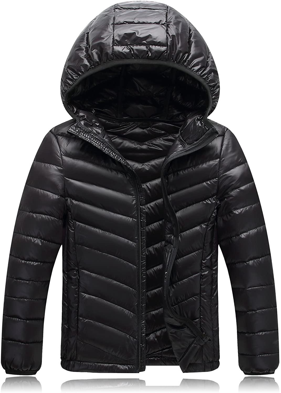 Shengdilu Unisex Kids Boys Girls Down Puffer Jacket Parka Coat Hood Outwear Outfit