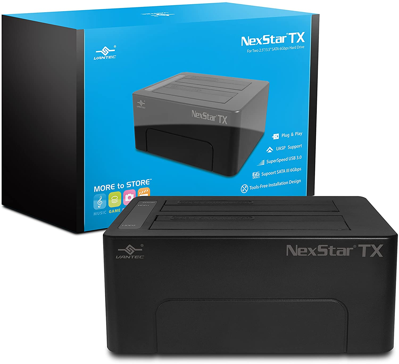 Vantec NexStar TX Dual Bay USB 3.0 Hard Drive Dock (NST-D428S3-BK)