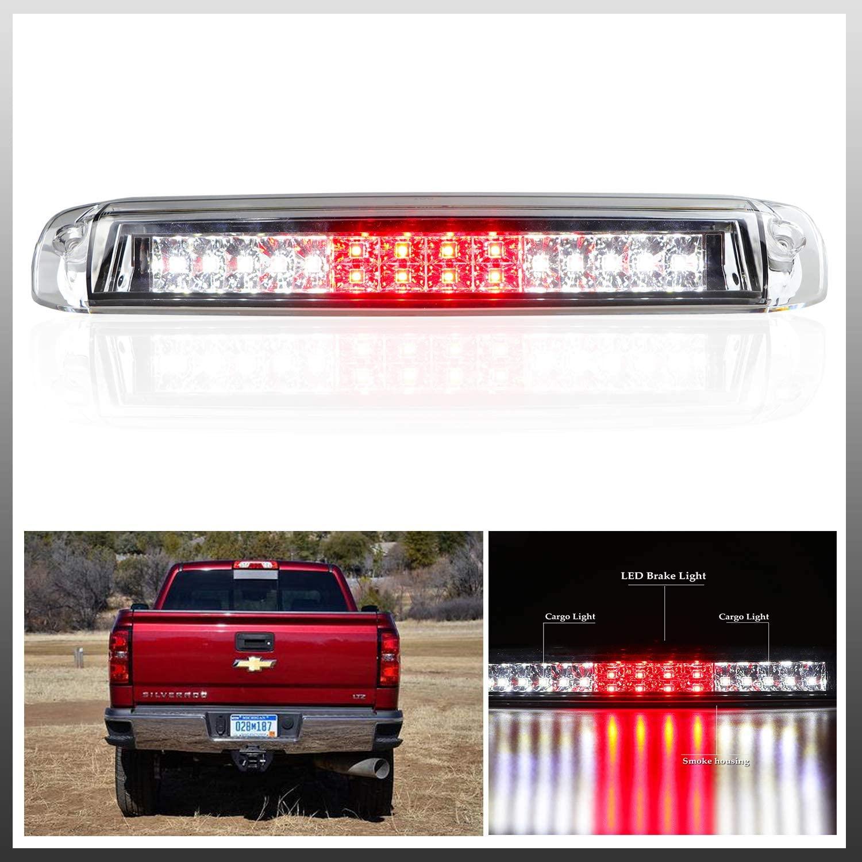 Youxmoto LED 3rd Brake Light High Mount Stop Light for 99-06 Chevrolet Silverado/GMC Sierra 1500-3500 1500-3500 HD, 2007 Chevrolet Silverado/GMC Sierra 1500-3500 & HD Classic Clear Lens