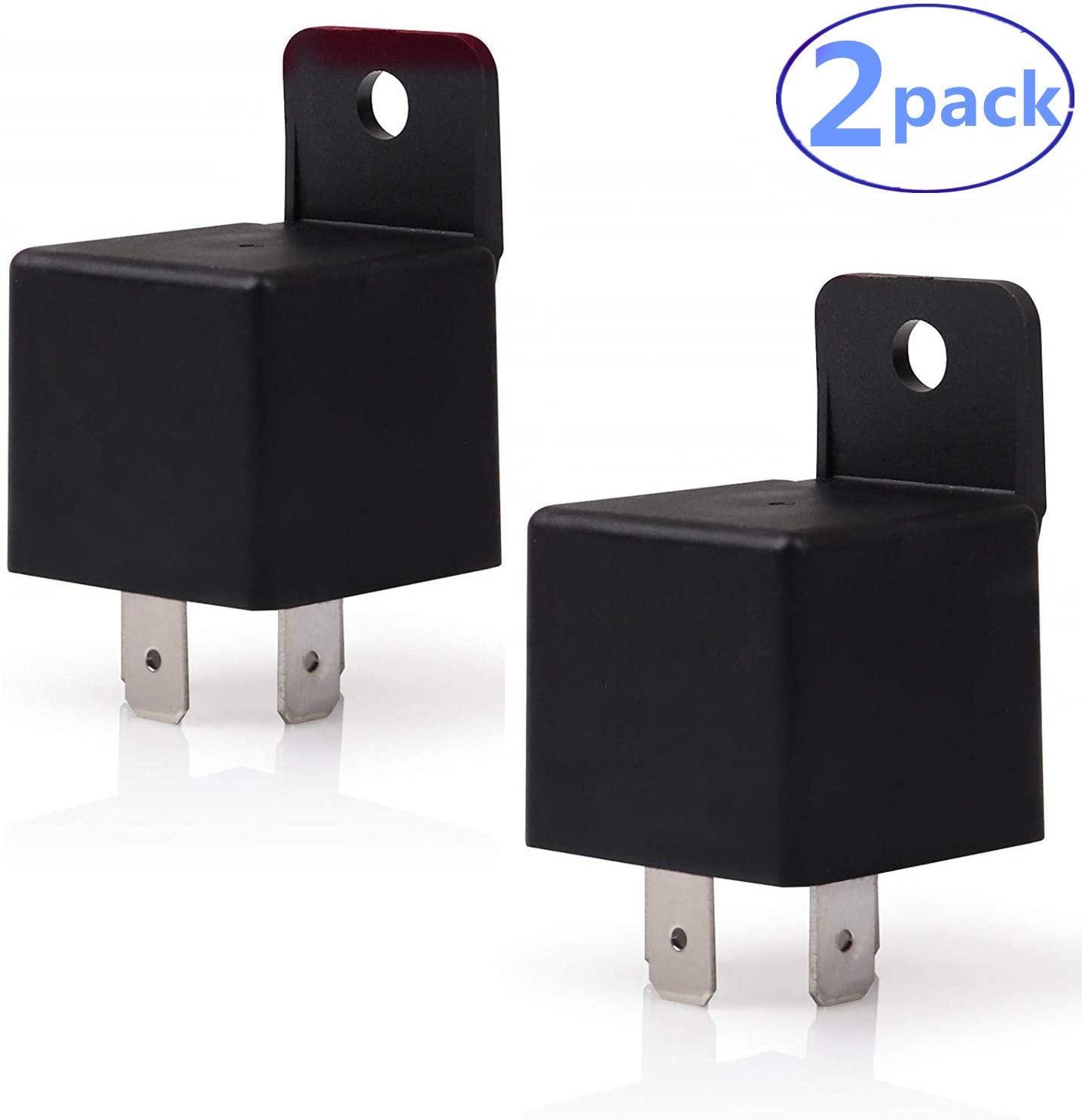 SoundOriginal Car Hron Relay 4 Pin 12v 40amp Spst Model No JD1912 12VDC 40A 14VDC Auto Switches & Starters, 2 Pack