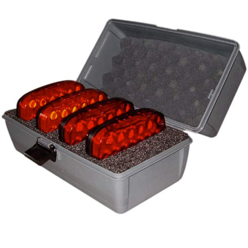 FOXFIRE MPF-4LK-M Signal Lite Kit for Utility Vehicles, Traffic Control, Oversized Loads, Work Zone Safety, Warehouse & Factory Safety, Red and Amber