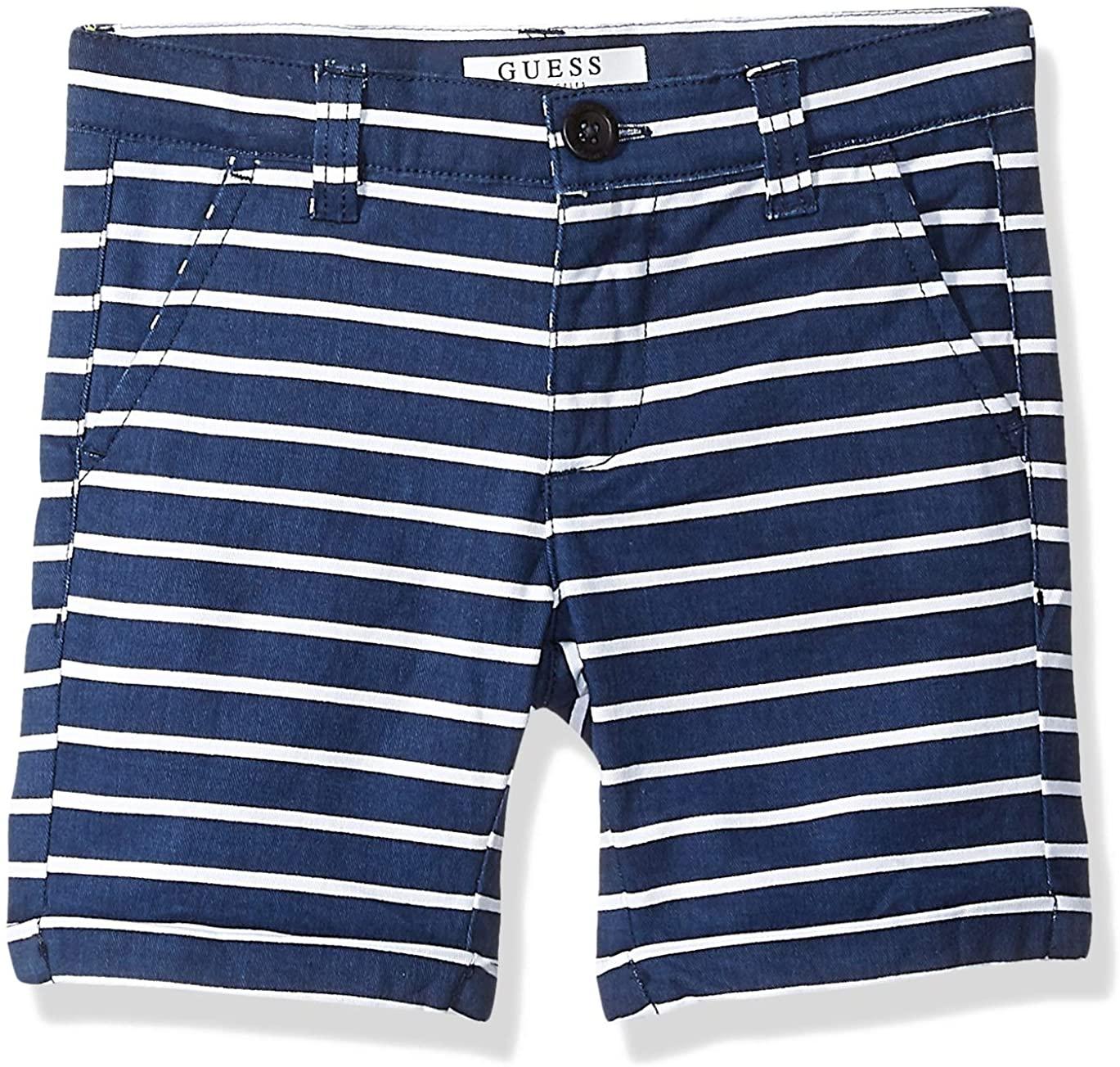GUESS Boys' Little Mini Stripe Twill Shorts