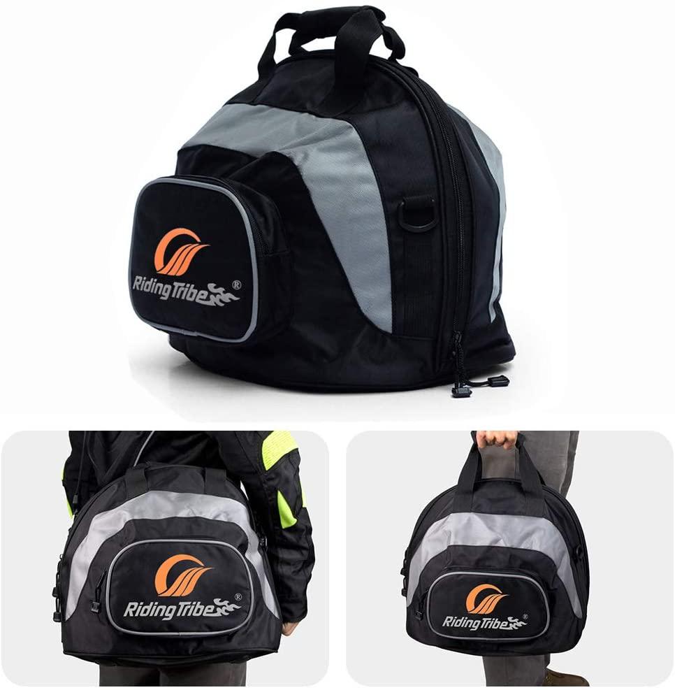 KATUR Motorcycle Helmet Bag Motorsports Storage Fleece Lined Zip Up Bag Black - Waterproof Shell