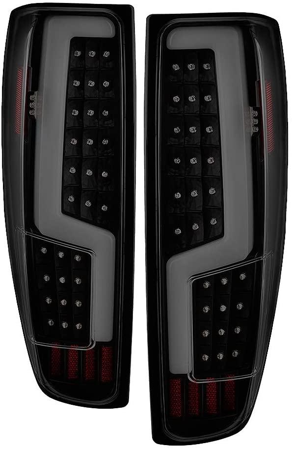 Jdragon Compatible for Chevy 04-12 Colorado GMC Canyon Black Housing Smoke LED Tail Brake Lights Set