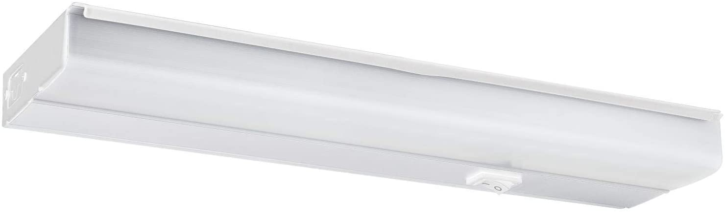 Sunlite 53078-SU 18-Inch LED Under Cabinet Hard Wired Light Fixture, 10 (60 Watt Equivalent), 500 Lumens, Dimmable, Linkable, Finish, ETL Listed, 30K - Warm White
