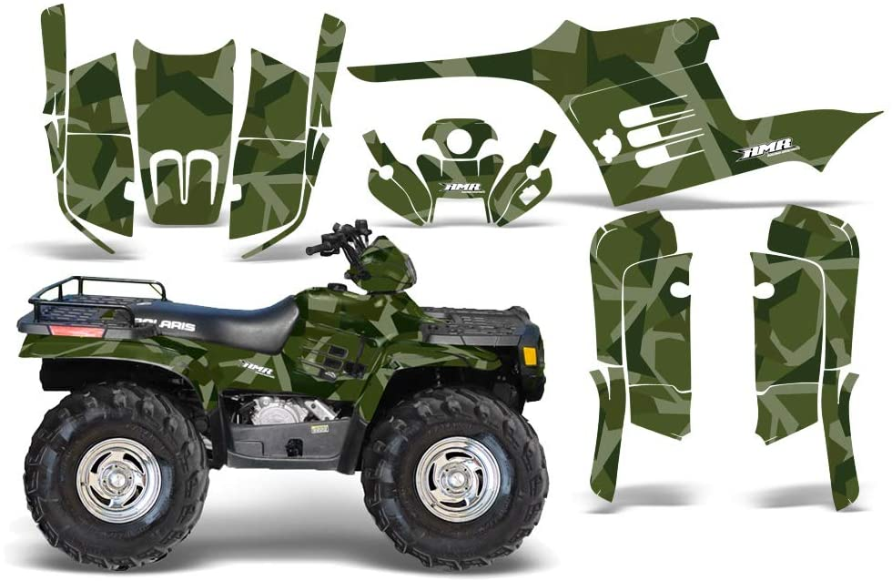 AMR Racing ATV Graphics kit Sticker Decal Compatible with Polaris Sportsman 400/500/600/700 1995-2004 - Special Forces Green