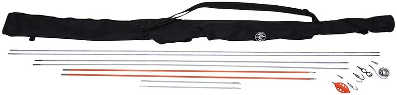 Splinter Guard Wire Fish Rod and Glow Rod Kit to 33-Foot with Full Accessory Set and Case Klein Tools 56400