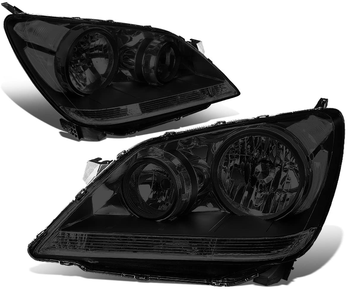 DNA Motoring HL-OH-044-SM-CL1 Pair Smoked/Clear Headlight[08-10 Honda Odyssey]