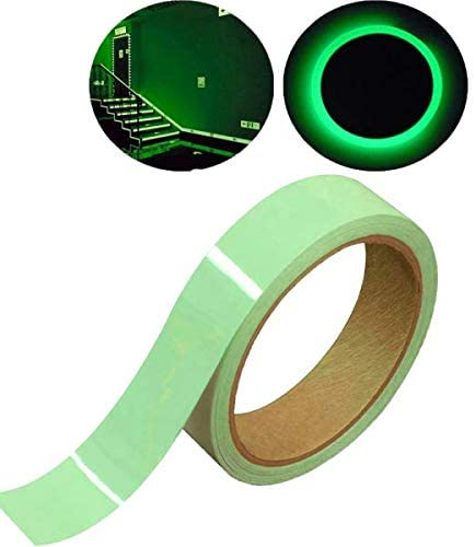 Jearls Glow in The Dark Luminous Tape Sticker Removable Waterproof Photoluminescent Green Glow Tape, Perfect for Home, Office, Luminous Party Great Gifts 16.5Feet X 0.6inches