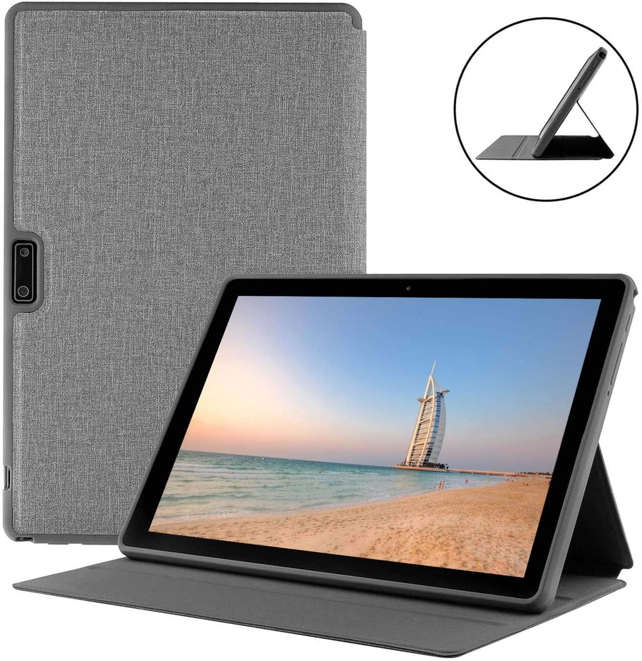 Tablet Case with Stand, Leather Protective Cover for WECOOL 10 Inch 3G Tablet, Shockproof Light Weight Holder
