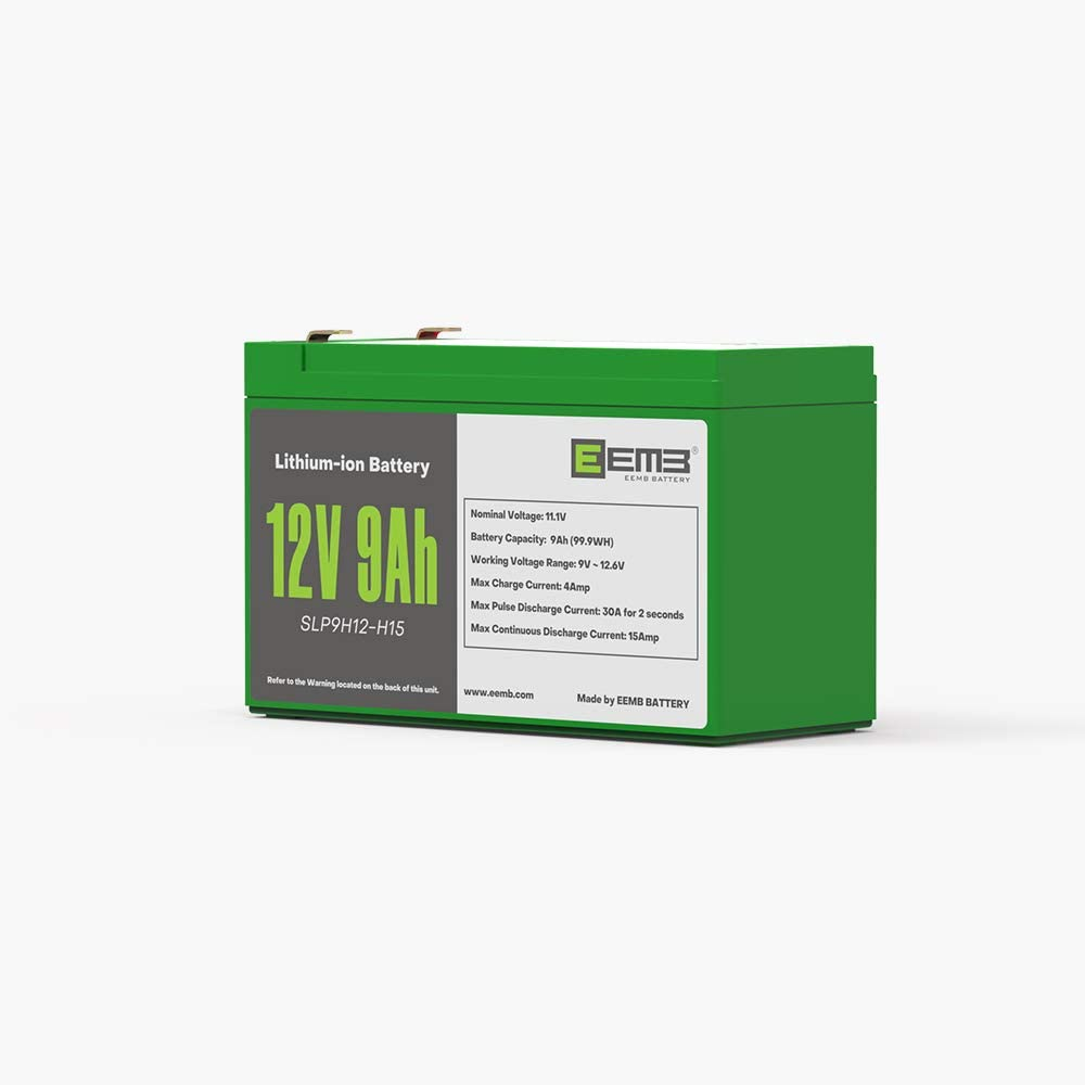 EEMB 12V 9AH Rechargeable Lithium Ion Battery Replace SLA Lead Acid Battery—EEMB Lithium Battery